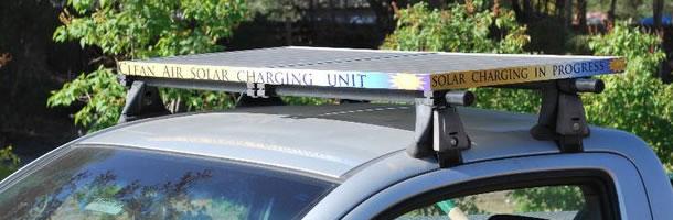 Clean Air Lawn Care Solar Charging Unit