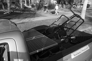 Clean Air Lawn Care solar truck