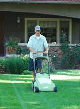 Electric Sustainable Lawn Mowing