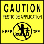 Clean Air Lawn Care Pesticide Application Warning