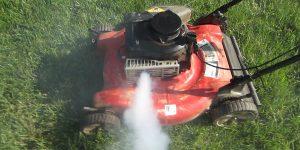 polluting gas lawn mower