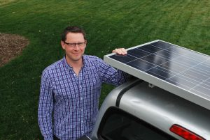 solar panel for electric lawn equipment